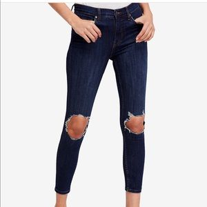 Free People Busted Knee Skinny Jeans 29S